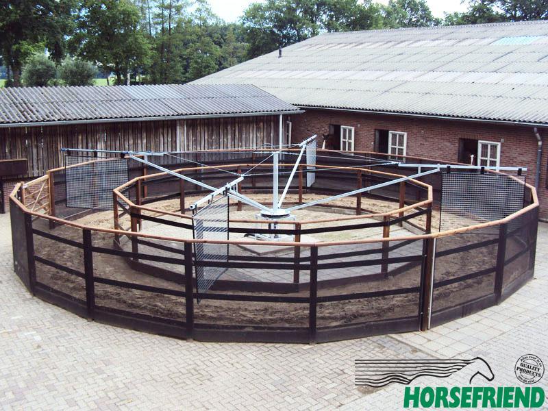 01.HF Dandy Basic vrijloop stapmolen; geschikt voor 4 paarden met een diameter van 16mtr.