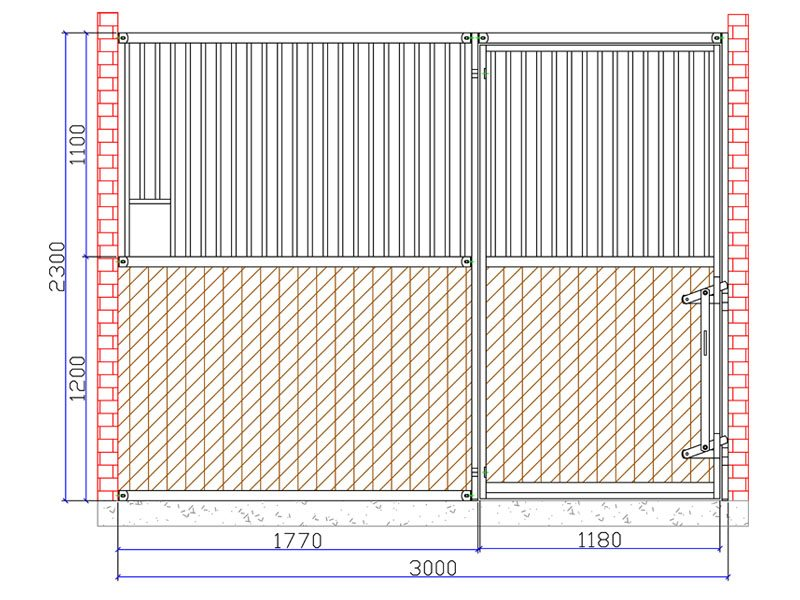 02.Flexbox met draaideur; max. 3.0mtr. breed. Kwaliteit voor een scherpe prijs!!