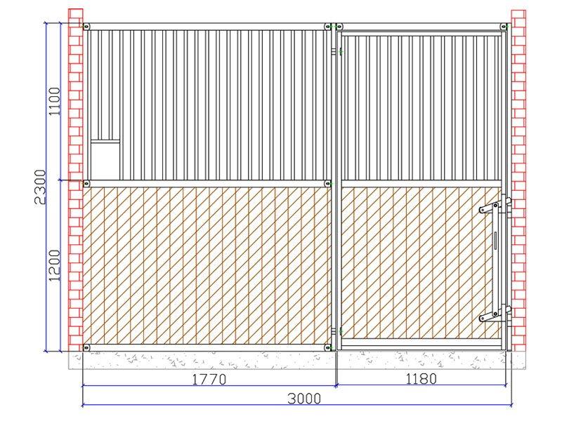 08.Flexbox met draaideur; max. 3.5mtr. breed