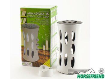 05.Armadilha 15. De functionele insectenval als tafelmodel of voor wandmontage. Uitsluitend gebruik binnenshuis. Geschikt voor 15m²