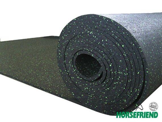 07.Granulaat rubber op rol; Dikte 10mm Lengte rol max. 10mtr. Br.150cm. pstr.m