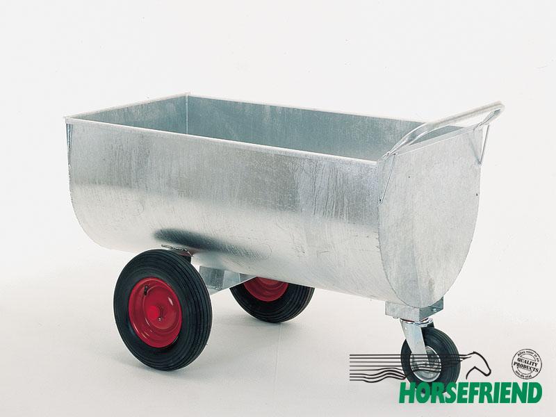 06.Metalen voerwagen; inh.400ltr. excl. overige accessoires. Gegalvaniseerd