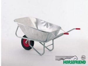 06.Metalen kruiwagen met één wiel; inh. 200ltr.