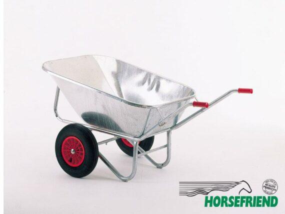 06.Metalen kruiwagen met twee wielen; inh. 200ltr.