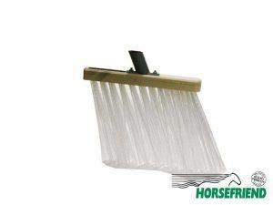10.Bezem voor stal; harde witte haren(pvc); inclusief steel