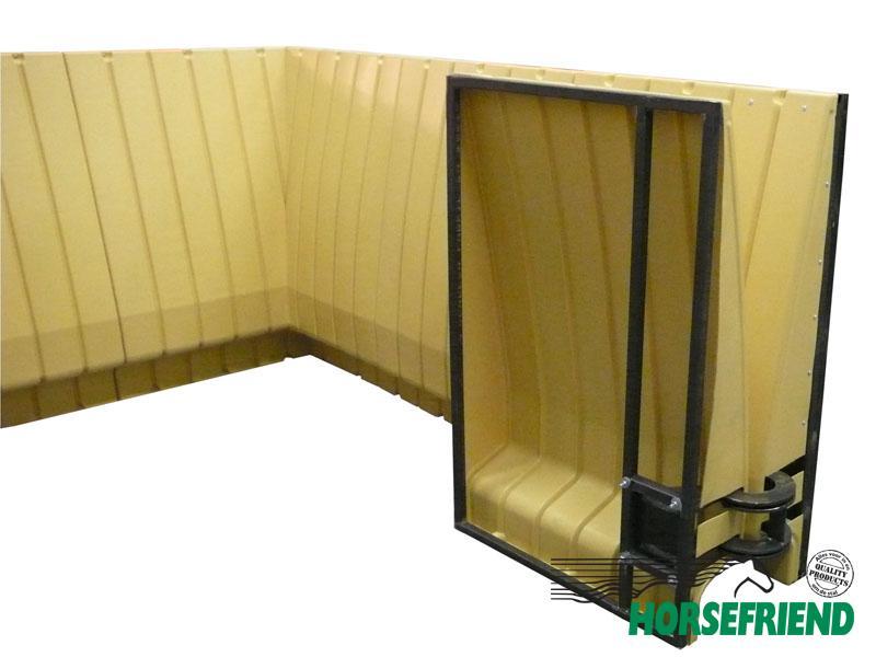 02.Frame tbv. poort; incl. scharnieren en sluiting; breedte 1.0mtr.
