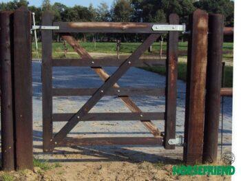 01.Engelse poort; rechtmodel. 120cm breed; enkele uitvoering