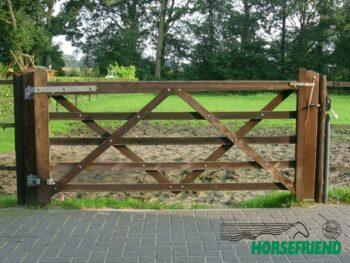 03.Engelse poort; rechtmodel. 240cm breed; enkele uitvoering