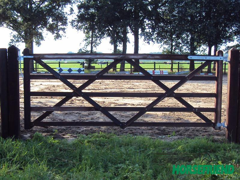 04.Engelse poort; rechtmodel. 300cm breed; enkele uitvoering