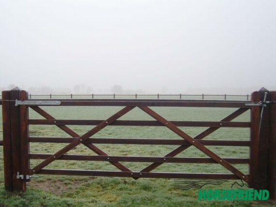 05.Engelse poort; recht model. 360cm breed; enkele uitvoering
