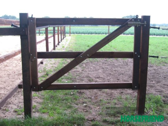 01.Enkele poort standaard uitvoering; 125cm breed.