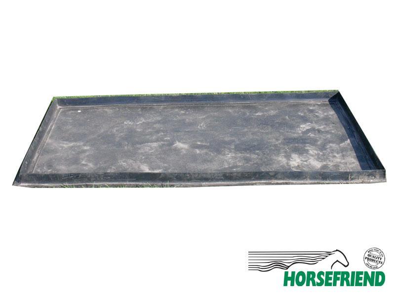 05.Watersloot rubber met opstaande rand. Afm. 300x 140cm