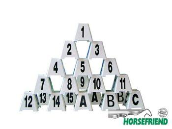 05.Hindernisnrs.; set van 20; incl. 2xA2xB en 1xC