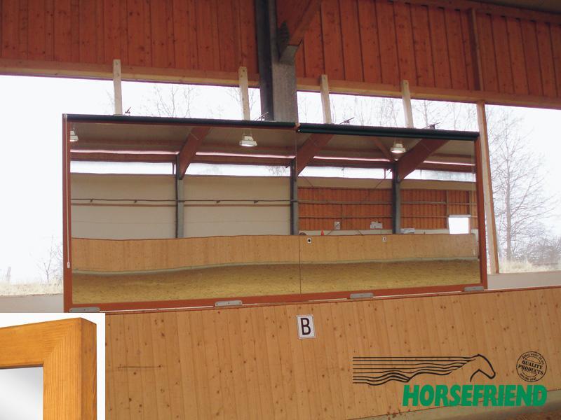 02.Dressuurspiegel; afm. 315x 180cm(h); geschikt voor de lange zijde