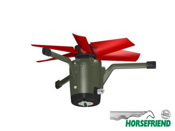 03.Pijpinbouw ventilator 4E30Q incl. rooster. Geschikt voor set 1-6paarden