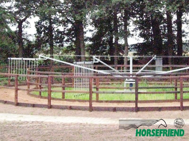 01. HF Forty vrijloop stapmolen ; geschikt voor 4 paarden met een diameter van 18mtr.