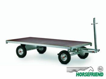 03.Schamelwagen met trekstang voor zowel handmatig alsook voor trekker. Afm. 125 x 250 cm. draagvermogen 1500kg.