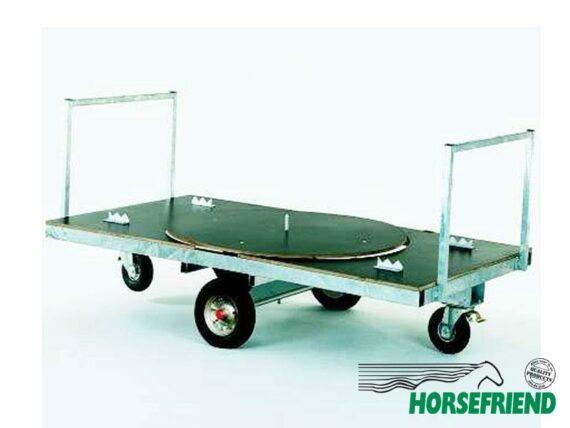 08.Combi Jumbo platte wagen met draaischijf; afm. 140x 250cm(lang)