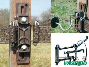 05.Spanisolator voor Horseguard; Rvs spanbeugel. Dus geen roestvorming.
