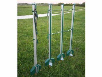 05.Roflexs Premium set XL Power 145; kleur groensilver. Hoogte 145cm. Complete set.