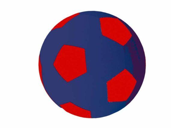 05.Paardenvoetbal Cover; voor 75cm kleur roodblauw