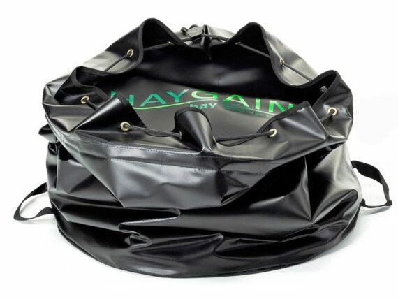 04.HAYGAIN HG-GO; geschikt voor een paar plakken hooi; kleur zwart. Inhoud 200ltr. Afm.Ø600mm en 700mm hoog