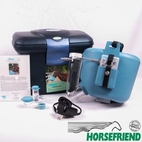 01.Flexineb 2; dampmasker voor het paard. Complete set