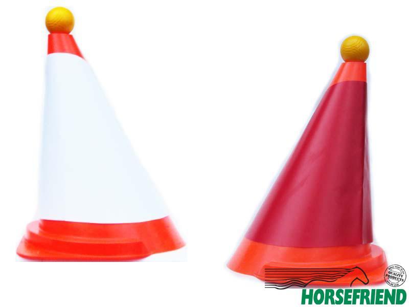 07.Kegelkap(2st.) rood en wit voor hinderniskegel; buiten kwaliteit.