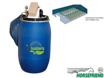 01.Flybusters automatisch vliegen bestrijdingsysteem voor de paardenstal