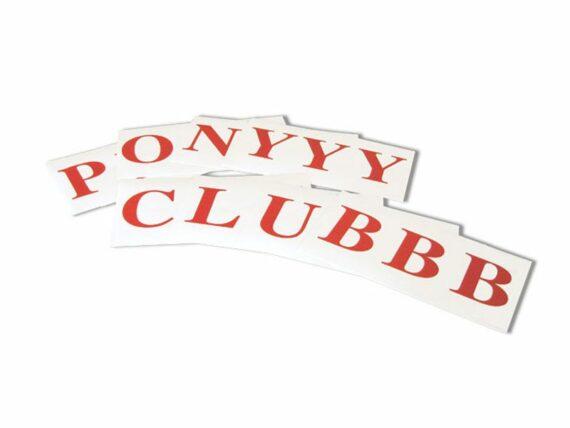 "08.Letterset""""PONYCLUB"""