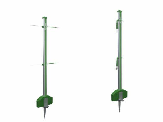 11.Roflexs Basic XL 145 aluminium paal; kleur groensilver. Hoogte 145cm.