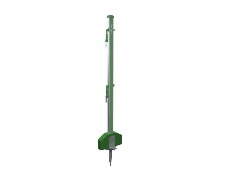 01.Roflexs Premium XL 145 aluminium paal; kleur groensilver. Hoogte 145cm.