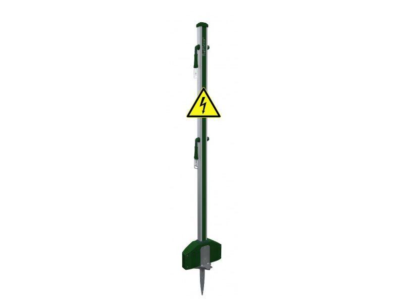 03.Roflexs Premium XL Power 145 aluminium paal; kleur groensilver. Hoogte 145cm.