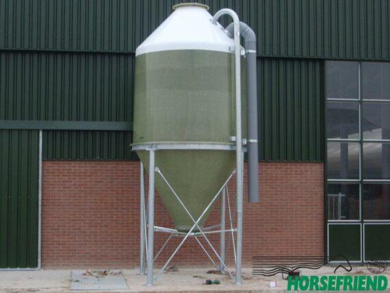 06. Afsluit schijf voor de polyester silo; gegalvaniseerd