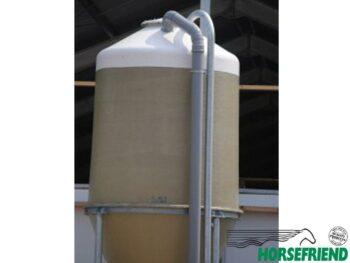 01.Polyester silo; inhoud 6 m³