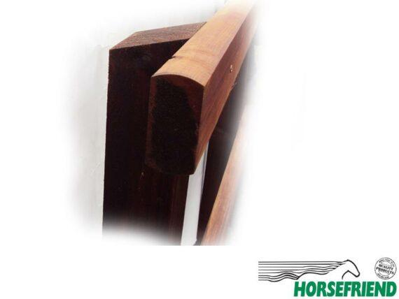 04.Type 3; Vierkante palen 10x10cm met twee afgeronde regels 5x10cm. Stelhoogte ca.140cm; p.str.m.
