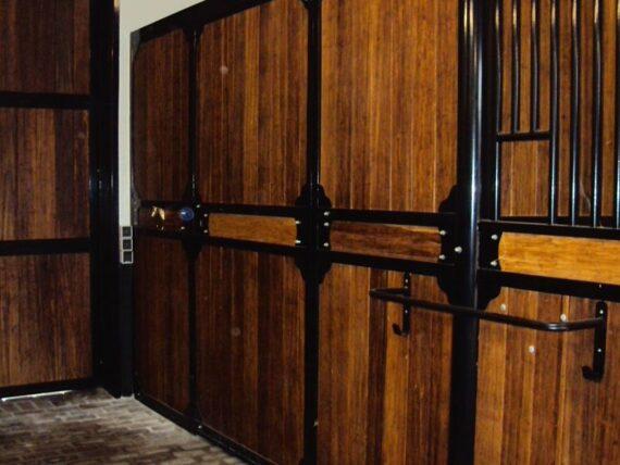 06.Zijwand PROFI; vulling onder en boven hout of Bamboe; 350cm