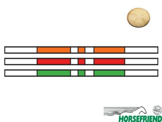 Springboom Kruishout, Wit met Oranje, Rood en Groen