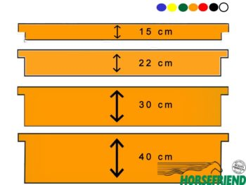 Hangplank verschillende breedtes en kleuren