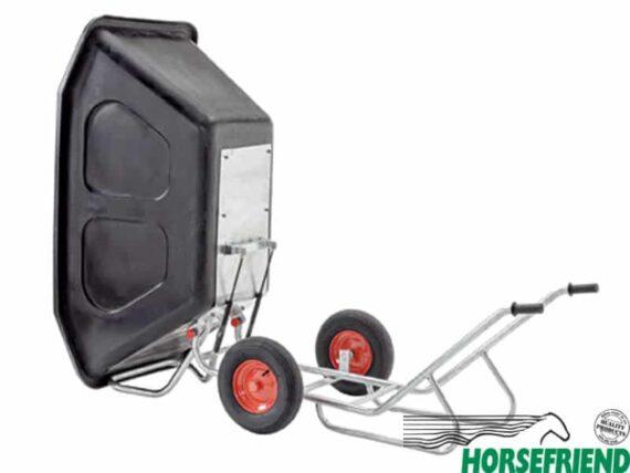 Kruiwagen met twéé wielen kiepbaar; inh. 500 ltr.