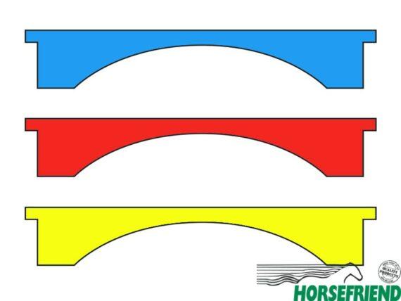 Rechthoekige plank met gebogen lijn