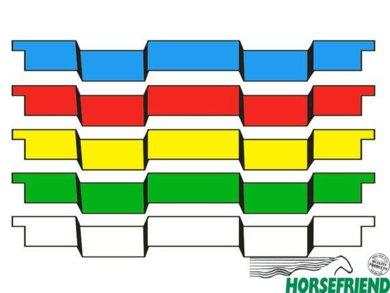 Verspringende plank in twee kleuren